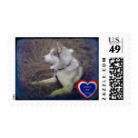 Two In One Husky Love & Support Our Troops Stamps