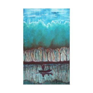 Beach Themed Two in the boat canvas print