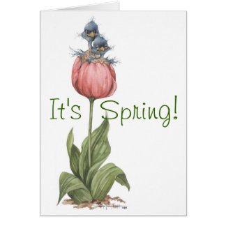 Two in Tulip - Card