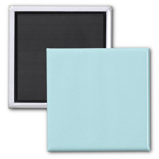 Two Inch Square Fridge Magnet: Powder Blue
