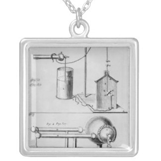Two instruments to study electricity silver plated necklace