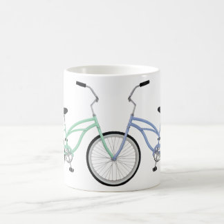 Two interlocking bicycles coffee mug