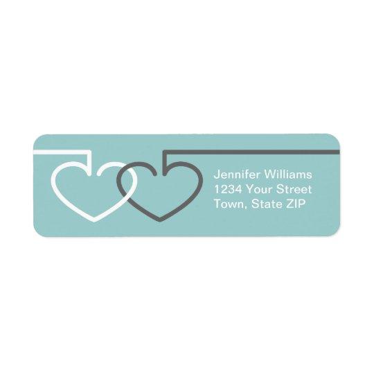 Two Interlocking Hearts Label