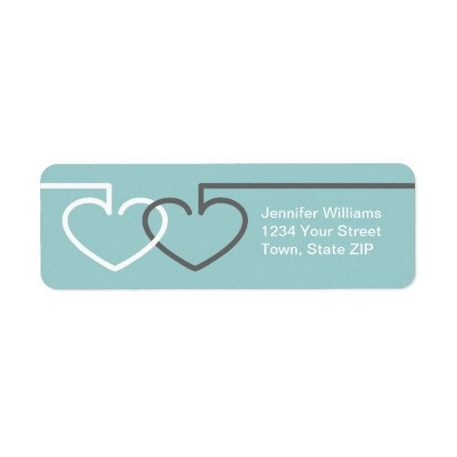 Two Interlocking Hearts Labels