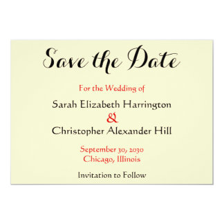 Two Interlocking Hearts Save the Date Wedding Card