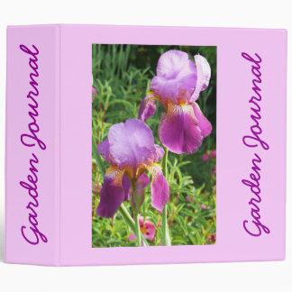 "Two Irises Garden Journal - Avery 2"" Binder"