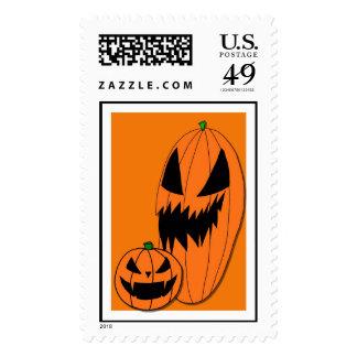 Two Jack O' Lanterns  Postage Stamp