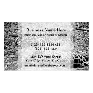 two jaguars black white sleeping animal Double-Sided standard business cards (Pack of 100)