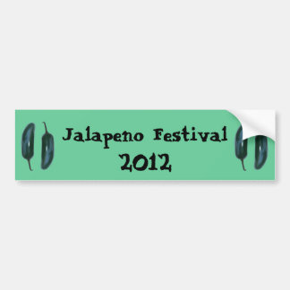 Two Jalapeno Peppers Car Bumper Sticker
