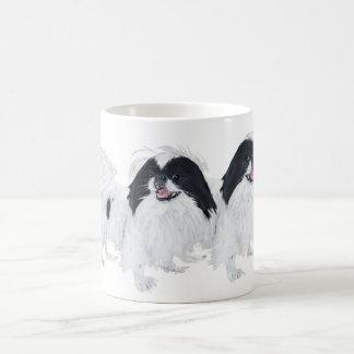 Two Japanese Chin Dogs Classic White Coffee Mug