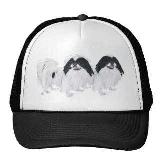 Two Japanese Chin Dogs Trucker Hat