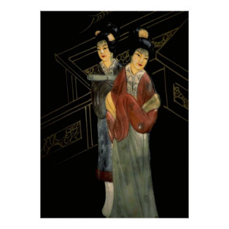 Two Japanese Women on Balconly Poster