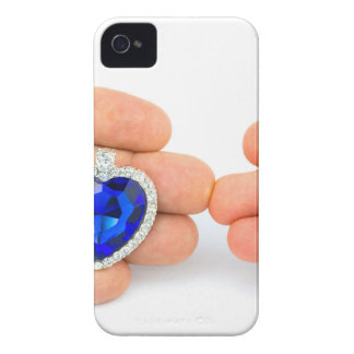 Two jewelry hearts on hand of man and woman iPhone 4 cover