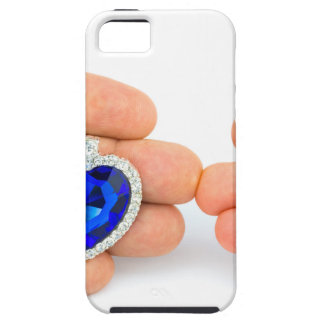 Two jewelry hearts on hand of man and woman iPhone SE/5/5s case