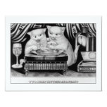 "Two jolly Kittens at a Feast 4.25"" X 5.5"" Invitation Card"