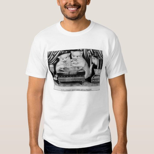 Two jolly Kittens at a Feast T Shirt