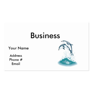 two jumping dolphins business card template