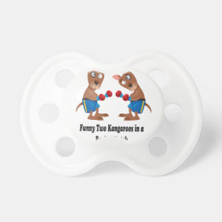 Two Kangaroos in-a Boxing Match Gift Set Pacifier
