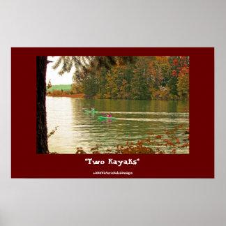 """""""Two Kayaks""""  poster"""