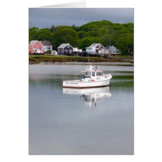 Two Keepahs: Maine Fishing Boat Card