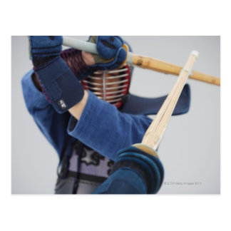 Two Kendo Fencers Sparring 2 Postcard
