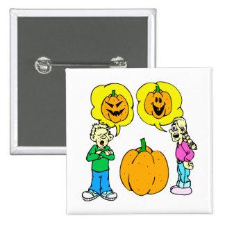 two kids arguing jack o lantern buttons