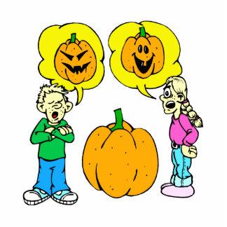 two kids arguing jack o lantern cut out