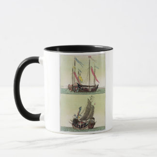 Two kinds of Chinese Junk, illustration from 'Le C Mug
