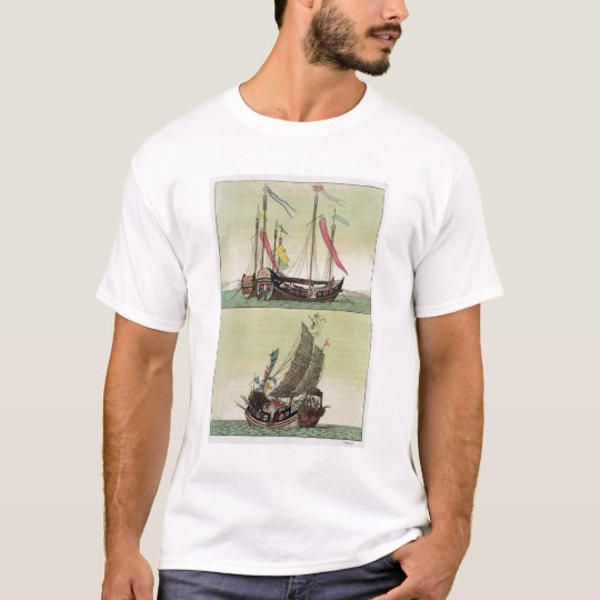 Two kinds of Chinese Junk, illustration from 'Le C T-Shirt