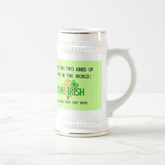 Two Kinds of People: Irish Beer Stein