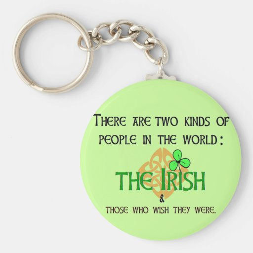 Two Kinds of People: Irish Key Chains