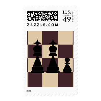 Two Kings and Pawn Chess Pieces Postage Stamps