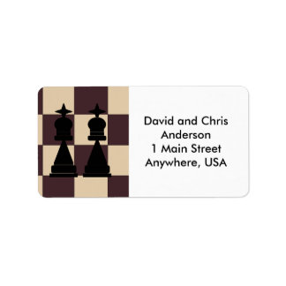 Two Kings Chess Pieces Address Labels