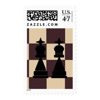 Two Kings Chess Pieces LGBT Postage Stamps