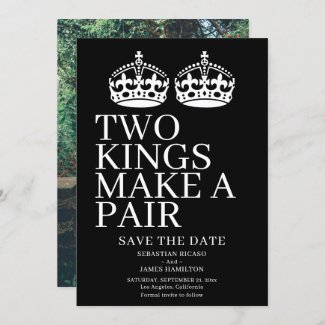 Two Kings Make A Pair Gay Wedding Announcement