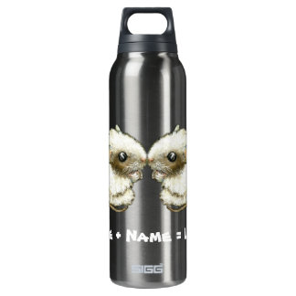 two kissing mice thermos water bottle
