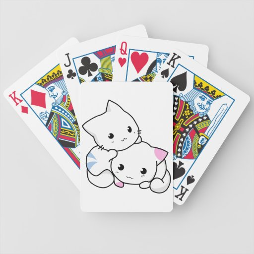 Two Kittens Bicycle Playing Cards
