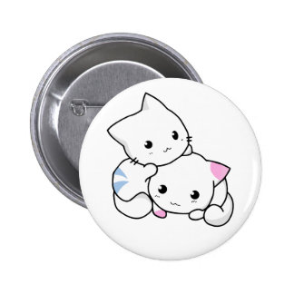 Two Kittens Button