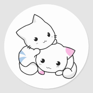 Two Kittens Classic Round Sticker