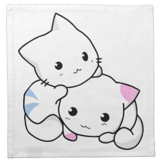 Two Kittens Cloth Napkin