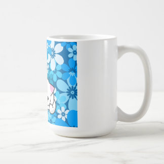 Two Kittens on Blue Background Coffee Mugs