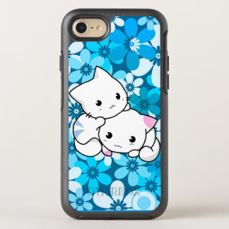 Two Kittens on Blue Background OtterBox Symmetry iPhone 7 Case