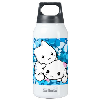Two Kittens on Blue Background SIGG Thermo 0.3L Insulated Bottle