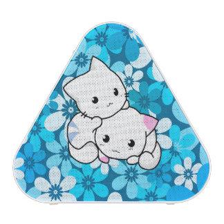 Two Kittens on Blue Background Speaker