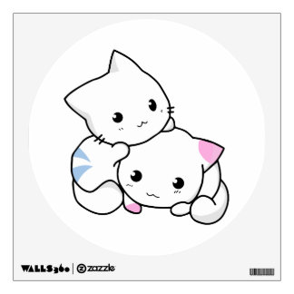 Two Kittens Wall Decal