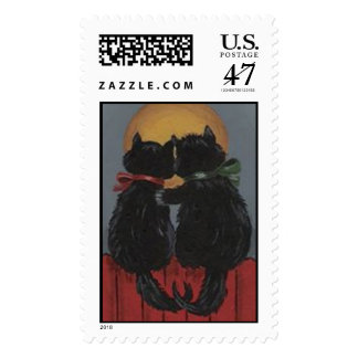 Two Kitties in Love Stamp