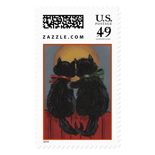 Two Kitties in Love Stamps