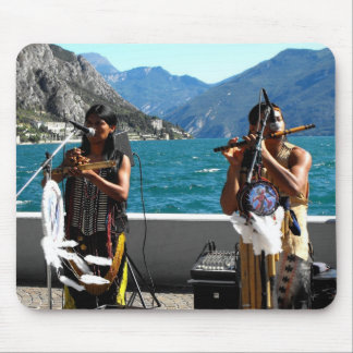 Two Kjari musicians at Lake Garda Mouse Pad