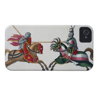 Two knights at a tournament, plate from 'A History iPhone 4 Case-Mate Case