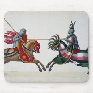 Two knights at a tournament, plate from 'A History Mouse Pad